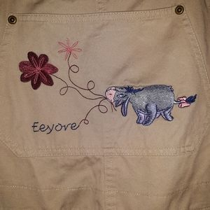 Disney Eeyore overalls large excellent condition